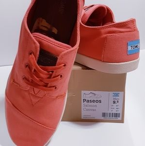 TOMS Paseos Salmon Canvas